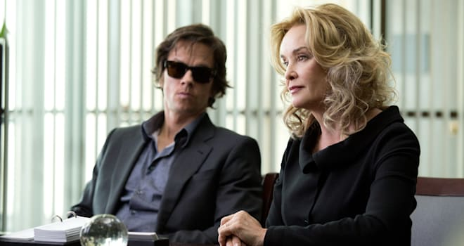 Left to right: Mark Wahlberg is Jim Bennett and Jessica Lange is Roberta in THE GAMBLER, from Paramount Pictures.GB-08852R
