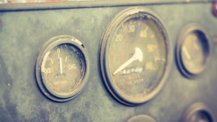 vintage car gauge meter  ...
