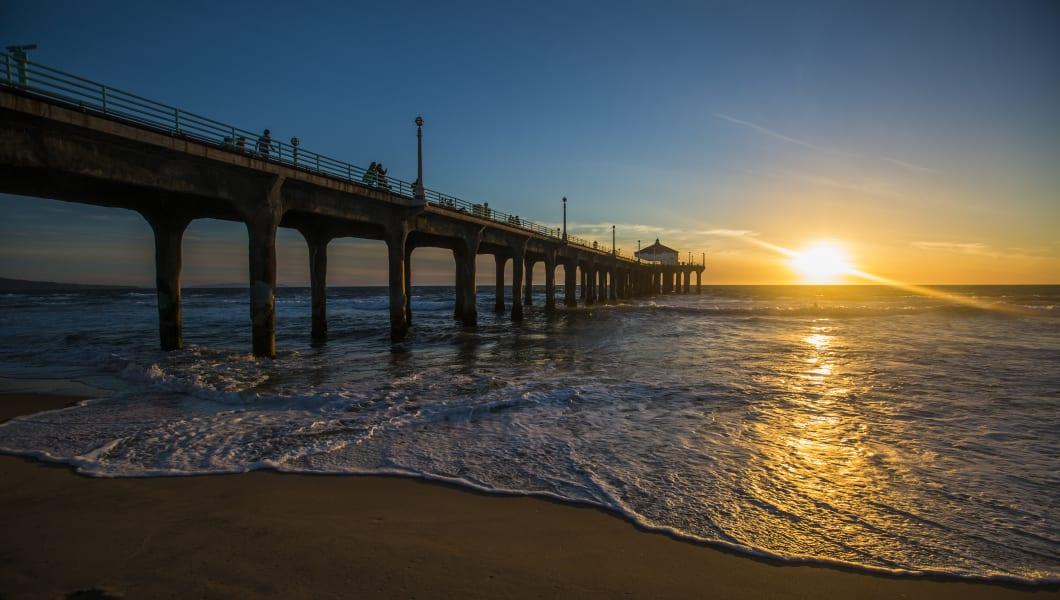 Sunset in Manhattan Beach, California