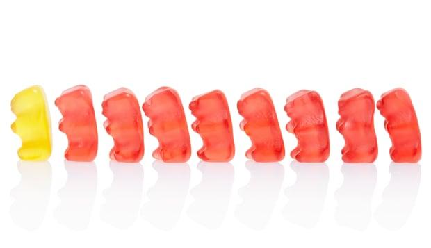 Gummy bears leadership concept