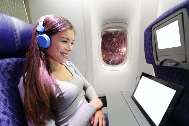 plane passenger in airplane...