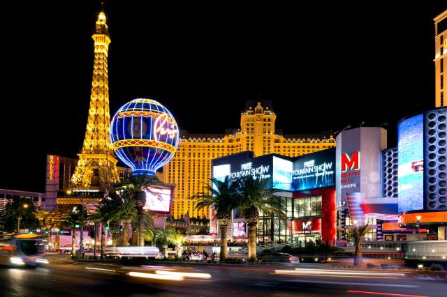 LAS VEGAS - MAR 18: Paris Las Vegas hotel and Casino is shown on March 18, 2013 in Las Vegas, Nevada. The Paris hotel and casino