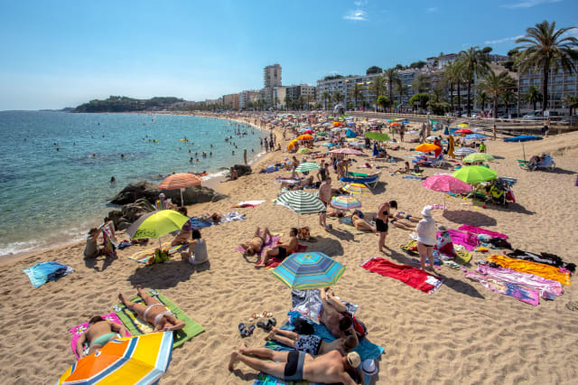 Spain , Catalonia ,Costa Brava Coast , Lloret de Mar City, Beach