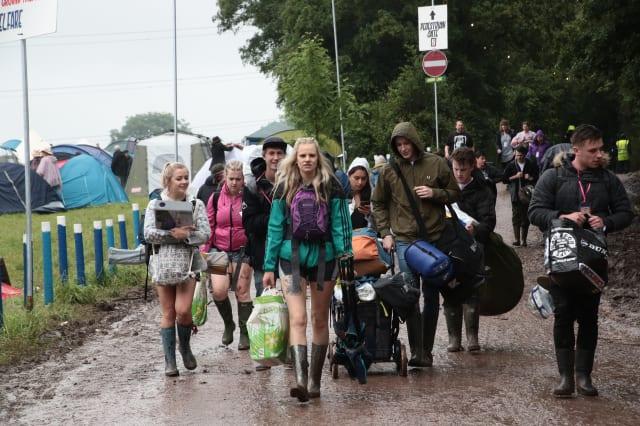 Arrivals on day 1 - Glastonbury 2016
