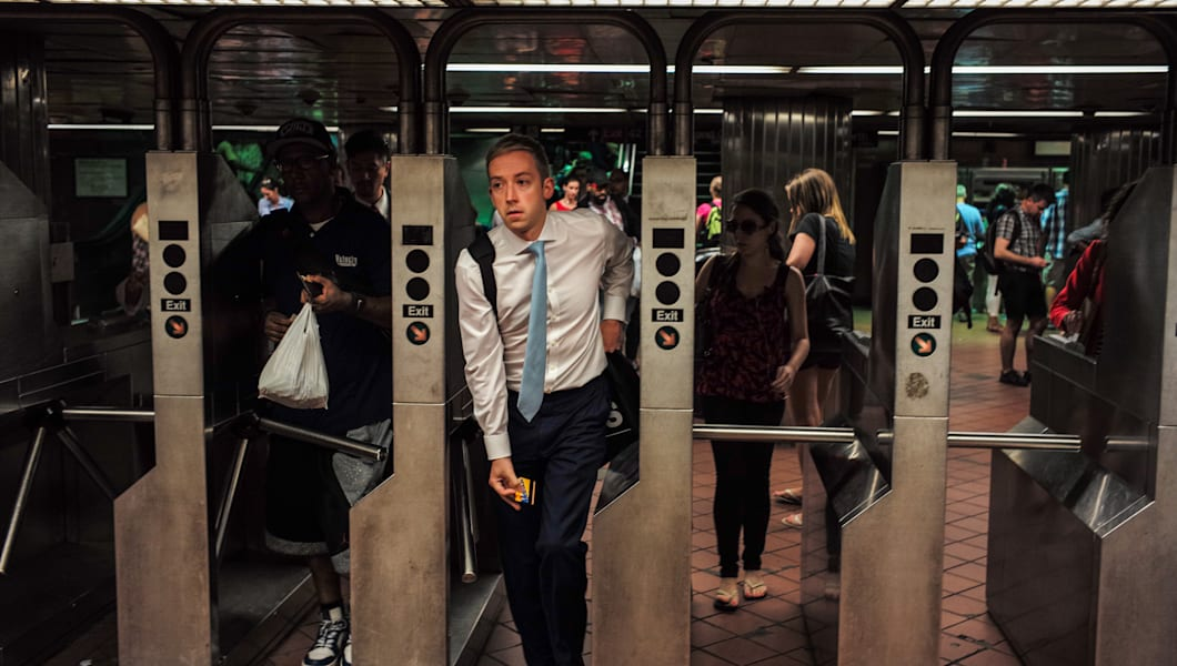 Commuters On New York City's Subways