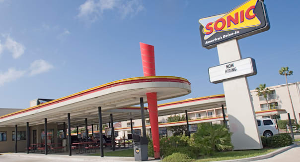 Sonic fast food outlet Padre Island Texas TX USA