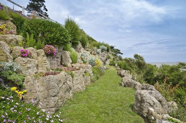 Artificial cliffs at Bawdsey Manor