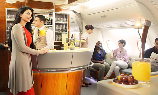 Emirates A380 First Class and Business Class Lounge