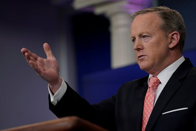 White House Press Secretary Sean Spicer holds his daily briefing on June 6,