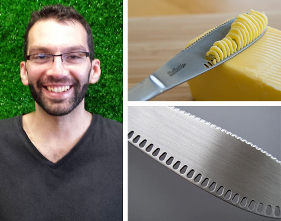 More than 1500 people crowdfunded industrial designer Sacha Pantschenko's idea for the ButterUp