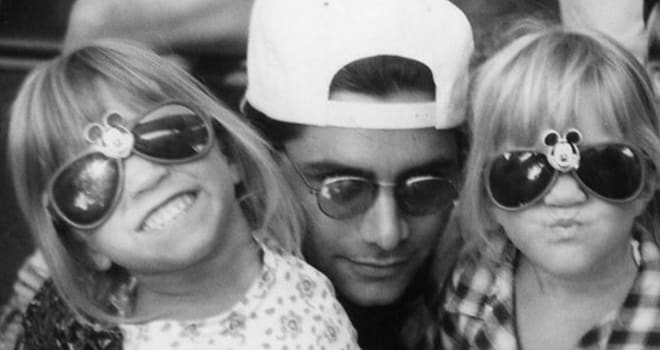 john stamos, olsen twins, mary-kate olsen, ashley oslen, full house, uncle jesse