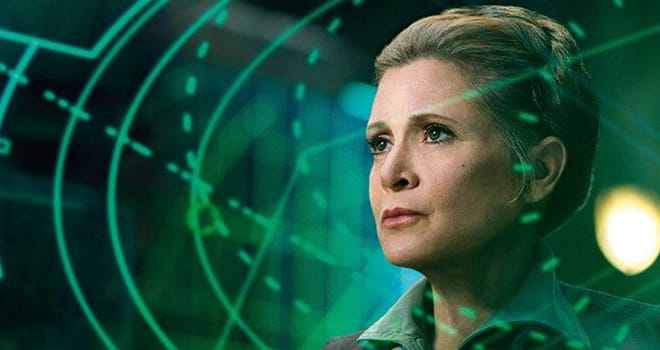 carrie fisher, princess leia, general organa, star wars, future, cgi, digital