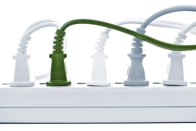 many plugs plugged into...