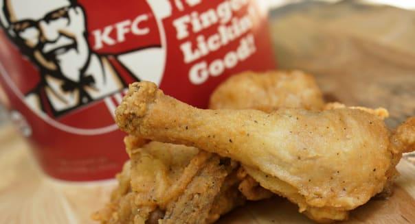 KFC, Kentucky Fried Chicken bucket and Drumsticks