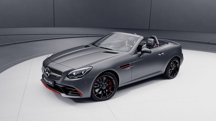 2018 Mercedes-AMG SLC43 with Performance Studio RedArt Package (European model shown)