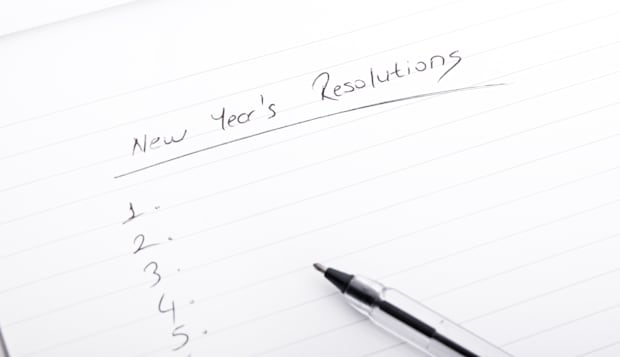 new year's resolutions on blank document