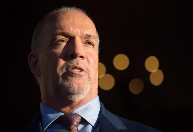 British Columbia premier-designate John Horgan speaks in Victoria on June 29,