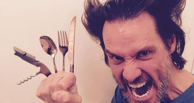jim carrey, wolverine, jim carrey impersonates hugh jackman