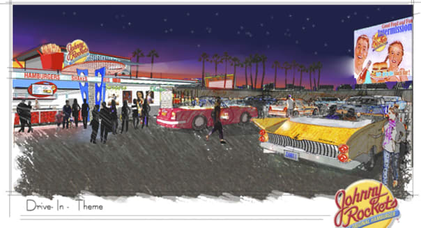 Johnny Rockets drive-in movie