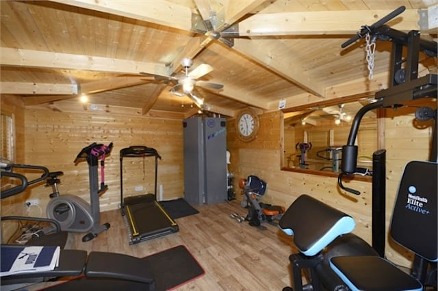 The gym in the shed