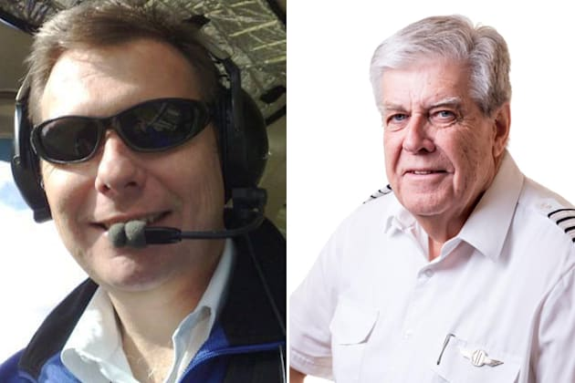 Experienced chief pilots Martin Scott (left) and Paul Daw (right) have been named as two of the victims...
