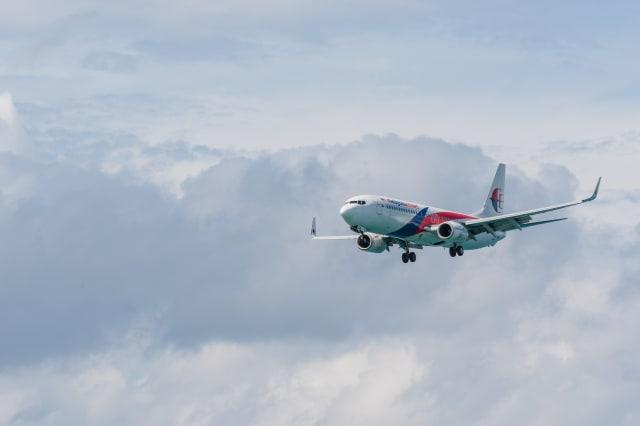 Malaysia airline airplane landing at Phuket airport