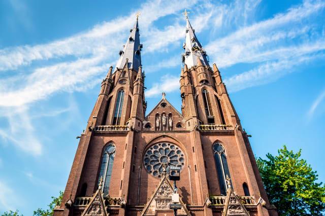 Gothic Catharinakerk in Eindhoven