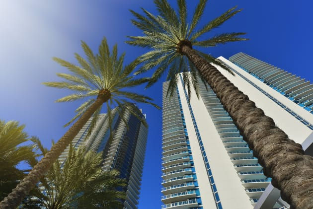 Condo towers in Sunny Isles Beach, Florida. The state is the top destination for Canadians buying property...