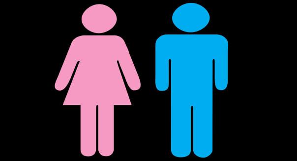 Male symbol and Female symbols. Digitally Generated.