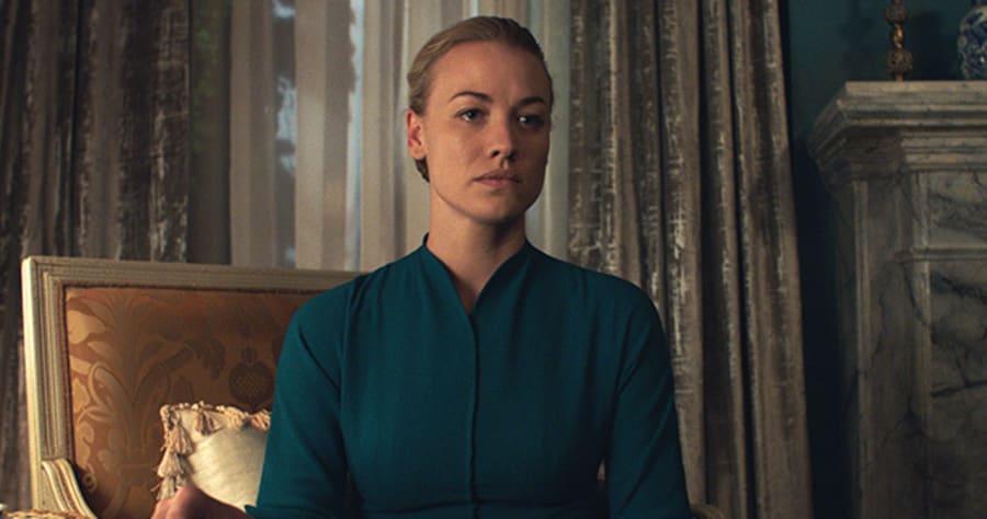 Yvonne Strahovski as Serena Joy in Hulu's THE HANDMAID'S TALE