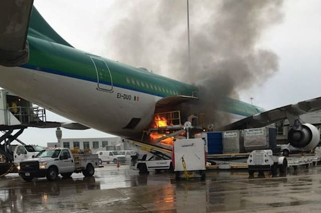 Aer Lingus flight catches fire on runway in Orlando