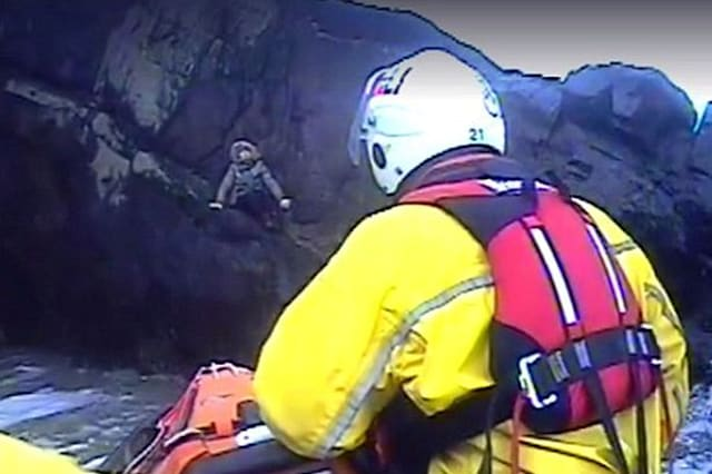 Pensioner rescued after falling into a cave