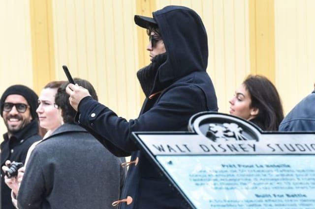 Cristiano Ronaldo hides under wig at Disneyland Paris