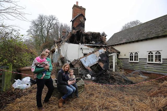 Family's 'dream home' destroyed in fire days after moving in Family's 'dream home' destroyed in fire days after moving in