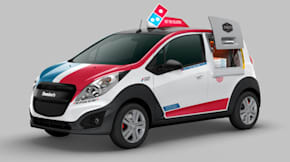 Domino's pizza delivery car