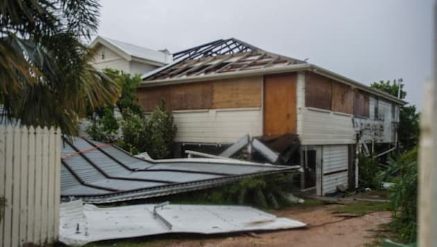 Cyclone Debbie ripped the roof off this house in