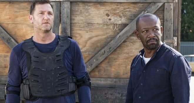 Lennie James as Morgan Jones, Karl Makinen as Richard- The Walking Dead _ Season 7, Episode 14 - Photo Credit: Gene Page/AMC
