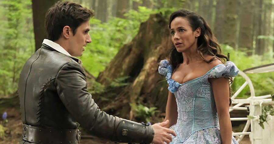 "ONCE UPON A TIME - ABC's ""Once Upon A Time"" stars Andrew J. West as Henry and Dania Ramirez as Cinderella. (ABC/Eike Schroter)"