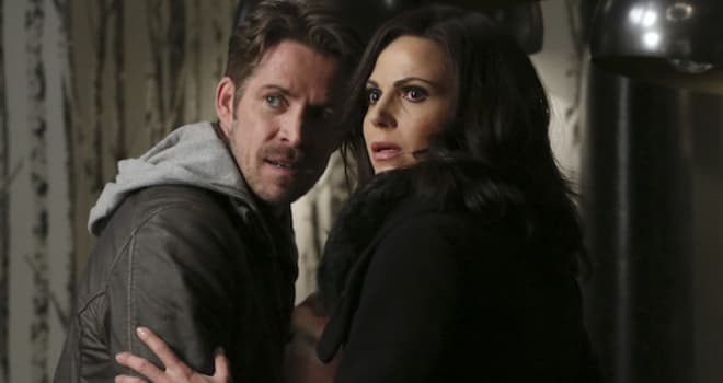 "ONCE UPON A TIME - ""Last Rites"" - Emma, David, Regina, Robin and Henry are finally back home in Storybrooke and reunited with Snow, but, unfortunately, they still have to contend with Hades, who continues to deceive Zelena as he lays out his plan to use the all-powerful Olympian Crystal to take over the town. The heroes desperately search for a way to defeat Hades while Hook does the same in the Underworld, looking for those missing storybook pages. Regina and Robin take a more direct approach, which culminates in an epic showdown that will leave our heroes forever changed, on ""Once Upon a Time,"" SUNDAY, MAY 8 (8:00-9:00 p.m. EST), on the ABC Television Network. (ABC/Jack Rowand)SEAN MAGUIRE, LANA PARRILLA"