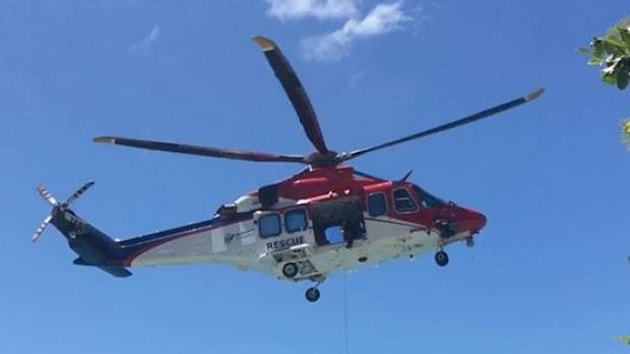 The search team in Rescue 510 helicopter found the man's
