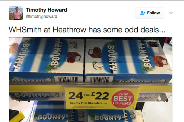 WH Smith bizarre chocolate deal