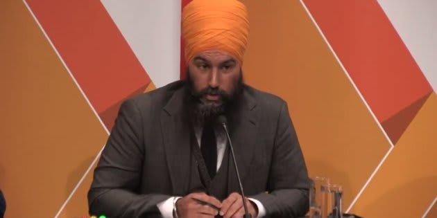 NDP leadership candidate Jagmeet Singh speaks during a debate in Saskatoon, Sask. on July 11,