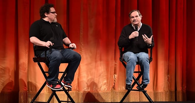 Jon Favreau and Rob Legato at the el capitan