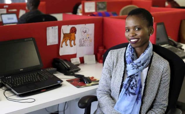 Winny Dubazane (24) supports a number of family members including her 13-year-old brother and her grandmother