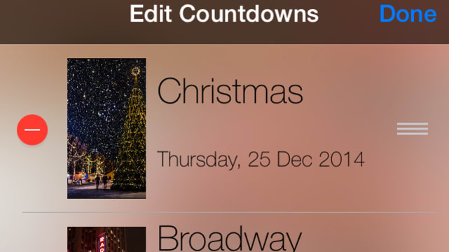 Widget Countdown screenshot