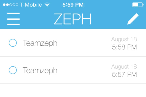 Zeph screenshot