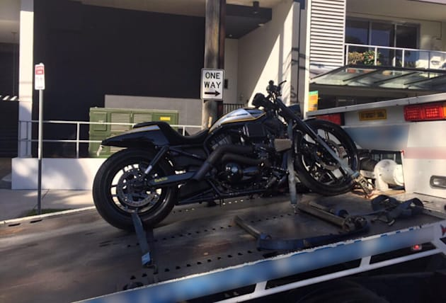 Twelve motorbikes were among the luxury goods police allege were funded by the $165 million tax