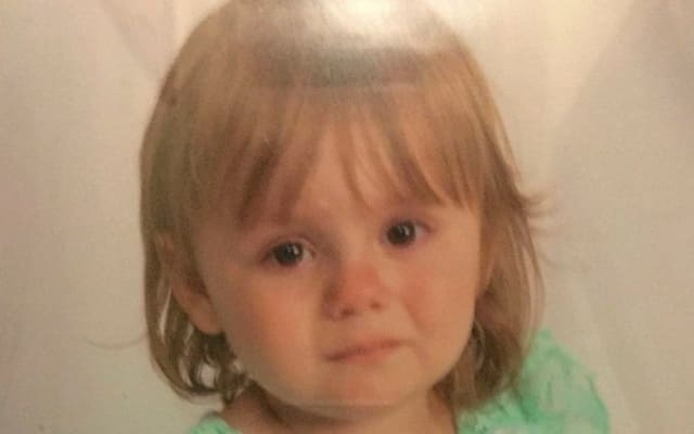 This undated photo provided by the Ohio Attorney General's office on Sunday, Oct. 4, 2015 shows Rainn Peterson. The toddler who disappeared Friday night, Oct. 2, 2015, from her great-grandparents' house in North Bloomfield, Ohio, was found alive in a nearby field on Sunday evening. (Ohio Attorney General's Office via AP)