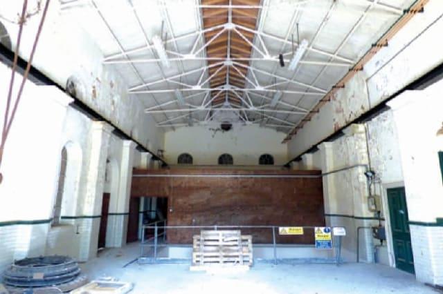 The huge main room