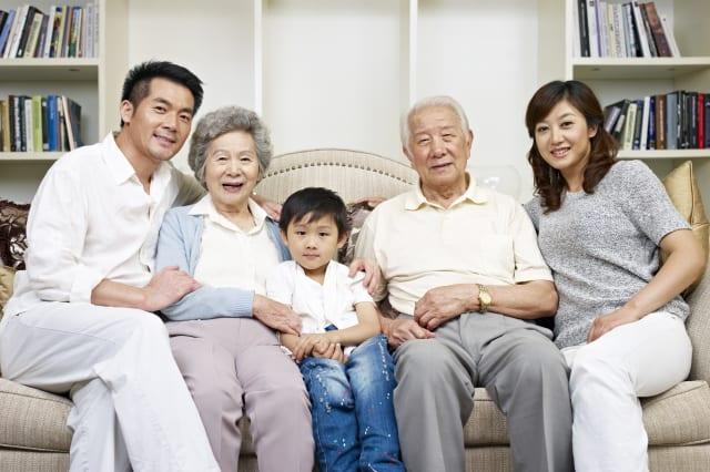portrait of a three generation...